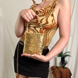 Striking y2k gold handbag